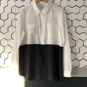 Calvin Klein Black and White Top